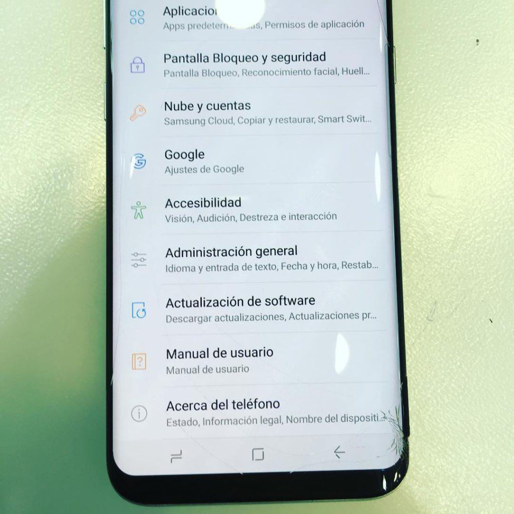 Reparar pantalla Samsung S8 + Plus