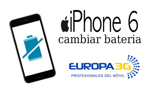 cambiar bateria iphone 6 gratis