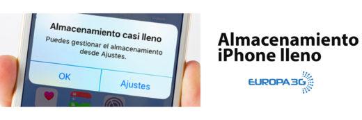 Almacenamiento lleno iPhone