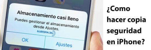 Hacer copia de seguridad iPhone