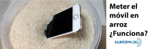 meter el móvil en arroz
