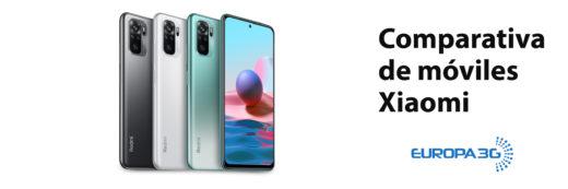 Comparativa de móviles Xiaomi